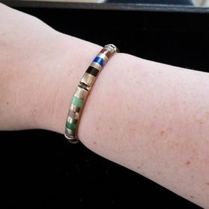 Sterling Silver and Stone Bracelet
